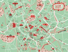 diana stanciulescu - A map comissioned byl Conbook Verlag for their Rome guide