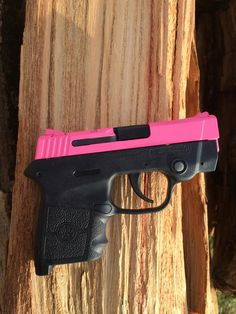 Smith and Wesson Bodyguard .380    Prison Pink Cerakote by the Gun Slide Guy