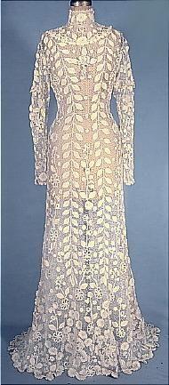Antique Dress - Irish crocheted Art-Nouveau. 1908. *sigh*