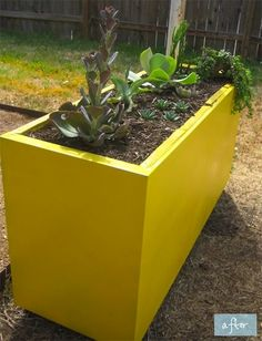 diy file cabinet planter - I'm totally doing this!  spray paint any color you want...