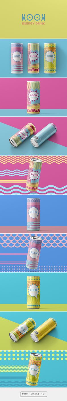 Branding, graphic design and packaging for KOOK Energy Drink Design on Behance by Thomas Eklo Skaara Oslo, Norway curated by Packaging Diva PD. Design was inspired by Japanese street clothing style. Eccentric, cool and fresh. Just like KOOK.