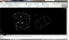 Cadgue: Menggambar objek 2D dan pemberian text dimensi pad...