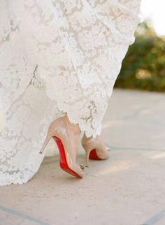 Nude Loubies #Louboutin #nude #wedding #shoes