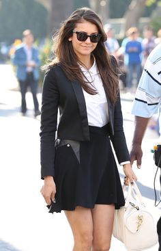 Nina Dobrev suited up in style!