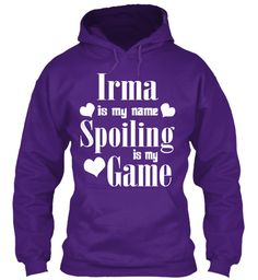 Irma Is My Name Purple Sweatshirt Front