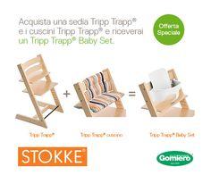 Promozione @stokkebaby: acquista un Tripp Trapp ed un cuscino e ti regaliamo il Baby Set #offerte #stokke #infanzia #bambini