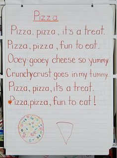 pizza poem Preschool Poems, Kindergarten Poems, Kids Poems, Preschool Literacy, Rhyming Poems, Dramatic Play Area, Dramatic Play Centers, Pizza Pizza, Globes