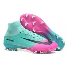 Nike Mercurial Superfly V FG Mens Soccer Cleat - Blue Pink - Soccer Photos Best Soccer Shoes, Best Soccer Cleats, Womens Soccer Cleats, Nike Soccer Shoes, Softball Cleats, Nike Cleats, Soccer Outfits, Soccer Gear, Soccer Boots