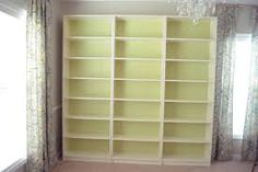 white bookshelves with crown molding - Google Search