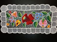 Items similar to Hungarian Embroidery Kalocsa tablecloth. on Etsy Chain Stitch Embroidery, Cutwork Embroidery, Hungarian Embroidery, Butterfly Embroidery, Embroidery Stitches, Embroidery Patterns, Stitch Head, Thread Art, Vintage Textiles