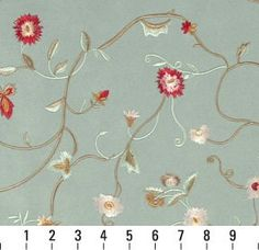 """Amazon.com: 54"""" B142 Light Green Floral Suede Upholstery Grade Fabric By The Yard: Home & Kitchen"""