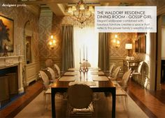 love gossip girl, the waldorf residence and most importantly those chairs