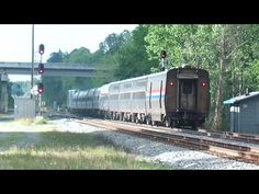 Amtrak Silver Meteor Train Out Of Here - YouTube