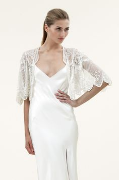 Elsa Embroidered Bridal Jacket by Jenny Packham