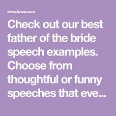 30 Best Father Of The Bride Sch Toast Examples