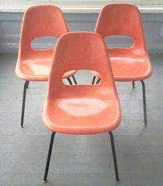 Rare And Beautiful,Vintage, Mid Century Modern, Fiberglass, Chairs  Available)