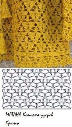 (58) Pinterest Crochet Motif Patterns, Knitting Paterns, Crochet Diagram, Stitch Patterns, Crochet Hooded Scarf, Crochet Magazine, Crochet Art, Crochet Projects, Crafts