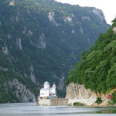 Iron Gate of the Danube River between Romania and Serbia
