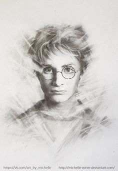 """Harry Potter"" ART (portraits) by Michelle Winer, via Behance"