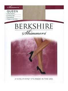 Women's Sheers - Berkshire Shimmers Plus Size Control Top Sheer Toe 4412 *** Be sure to check out this awesome product. (This is an Amazon affiliate link)