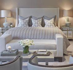 Grey bedroom luxury chic