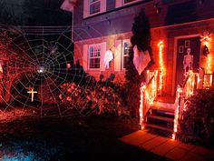 Tips for hanging Halloween decorations.  Get ready for ghouls and goblins by securing all types of monsters, orange lights and scary items around your house following these guidelines.