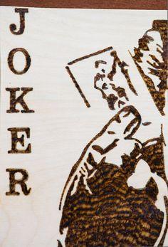 Pirografia Joker Batman Decorazioni Joker di FantasieArtigianali