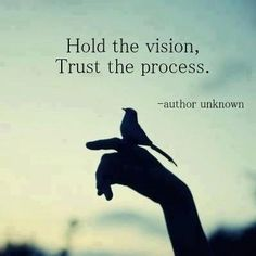 hold it and trust in (god)