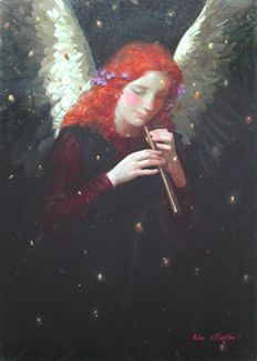 Angel with Flute Melody