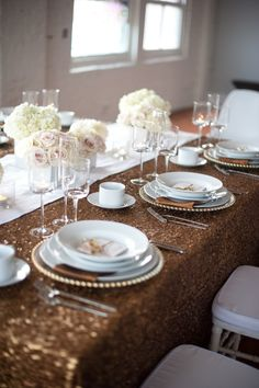Styled Soirée | Modern, Fun + Festive - to see more: http://www.theperfectpalette.com/ Photo by Christa-Taylor, Styling by Champagne Wedding Coordination