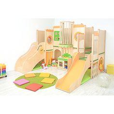 Spielebene 2 ebene spielhaus verschiedene ebenen for Spielpodest kinderzimmer