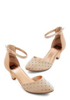 Gliding By Heel in Peach. Float along the petunia-lined garden path in these peach-hued heels from BC Footwear! #cream #prom #weddingNaN