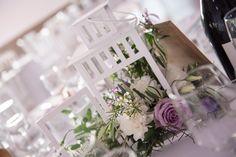 Centre de table lanterne mariage Lavande et Blanc - Mariage en Provence - Organisation et Scénographie: Cigales et Petits Fours