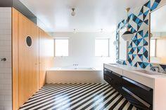 9 kleurrijke en uitzonderlijke badkamertegels