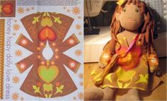 Make your doll a hippie for Halloween - congrats to our latest design winner!