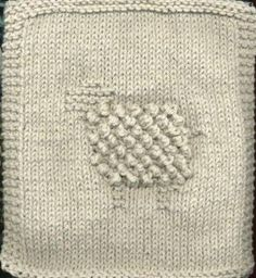 Knit bobbly sheep dishcloth. Really cute.  Made  in Lily Sugar N Cream cotton.