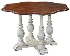 "Providence Daisy Dining Table - Handcrafted from mahogany. - Item # BR-22552 - 30""H x 48""W x 48""D - 50+ color & art options."