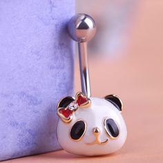 Enamel Panda Piercings Belly Button Rings Only $11.59  => Save up to 60% and Free Shipping => Order Now! #Ring #Jewelry #woman #fashion