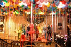 Rogers estimated that he used more than 3,000 colored balloons inside the two-story shop.