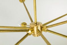 9 Socket Mid-Century Brass Sputnik by ModernBrass on Etsy