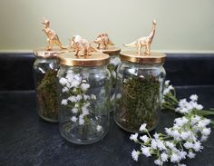 Dinosaurs and pickles combine in this ultra easy centerpiece DIY project