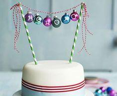 Christmas cake bauble bunting