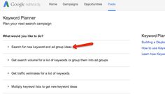 Find out how you can use Keyword Planner to enter landing pages instead of keywords to get keyword ideas. Keyword Planner, How To Get, How To Plan, Seo Marketing, Landing, Online Business, Dan, Clever, Google