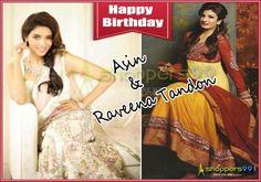Shoppers99 wish #Asin Thottumkal & #RaveenaTandon a very happy birthday! #HappyBirthdayAsin  #HappyBirthdayRaveena