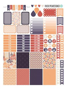 PRINTABLE Erin Condren Life Planner Autumn by PricklyPearDesignCo