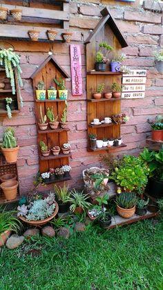 Garden Deco, Garden Yard Ideas, Garden Crafts, Lawn And Garden, Garden Projects, Garden Art, Rustic Gardens, Outdoor Gardens, Container Plants