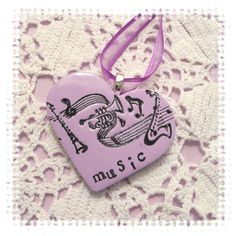 Music Heart Wedding Bouquet Charm. $12.00, via Etsy.
