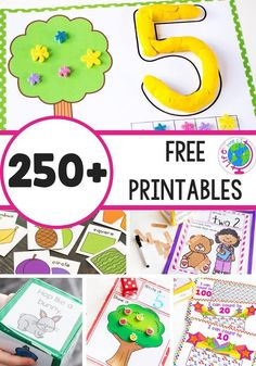 Kids will enjoy these 250 free educational printables for math and literacy These are handson multisensory Preschool PreK Kindergarten and elementary activities Choose fr. Kindergarten Math Activities, Pre K Activities, Printable Activities For Kids, Free Preschool, Preschool Printables, Free Printables, Math Literacy, Preschool Math Activities, Educational Activities For Preschoolers