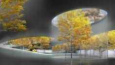 Cheungvogl expands Seoul city center with unfolding underground landscapes Landscaping Around House, Privacy Landscaping, Front Yard Landscaping, Landscaping Edging, Landscaping Melbourne, Landscaping Ideas, Architecture Courtyard, Landscape Architecture, Urban Landscape