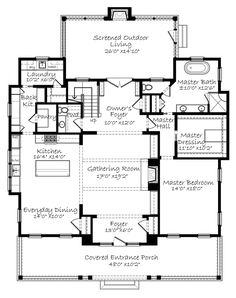 House Plans-The Sweetest Lowcountry Farmhouse House Plans-The Sweetest Lowcountry Farmhouse<br> The Sweetest Lowcountry Farmhouse Best House Plans, Dream House Plans, Small House Plans, Dream Houses, The Plan, How To Plan, Farmhouse Floor Plans, Modern Farmhouse Exterior, Farmhouse Flooring